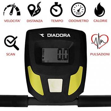 Diadora Forty Tapis roulant magnetico, monitor LCD, 8 livelli, Nero - 2