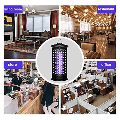 DINOKA Zanzariera Elettrica, UV LED Lampada Anti Zanzare Interior Zanzariera per Lampada Zanzara, Silenziatore Lampada Anti-Insetti e Non Tossico (Nero) - 1