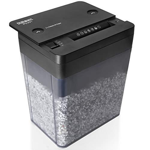 Duronic PS391 Distruggidocumenti 3 fogli taglio a micro frammenti 3x9mm capacità 5L Livello di sicurezza P-5 per casa ufficio - 1