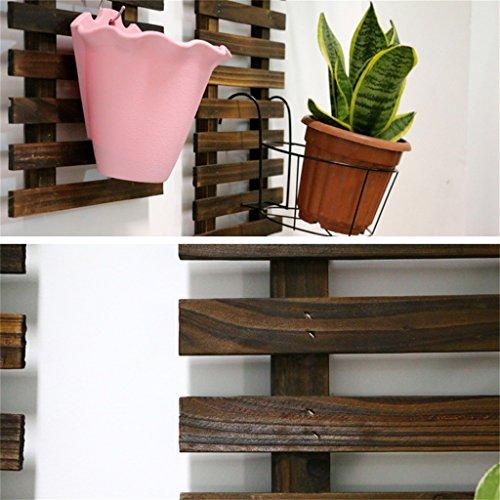 DYFYMXStand de plantes Mensola in Legno massello, mensola Creativa, fioriera Decorativa, Pot de Fleurs (Dimensioni : 29 * 90cm) - 1