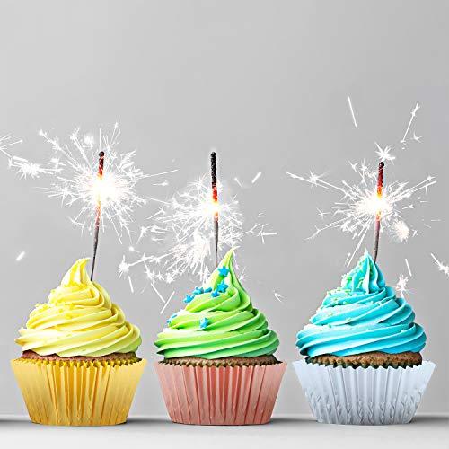 Elcoho - Confezione da 600 mini pirottini metallici per cupcake, muffin, 3 cm, colore: oro, argento e oro rosa Gold,Sliver and Rose Gold - 1