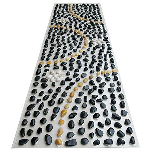Eliteshine Rock massaggio PVC tappetino yoga tappetino da bagno tappeto da cucina per riflessologia - 1