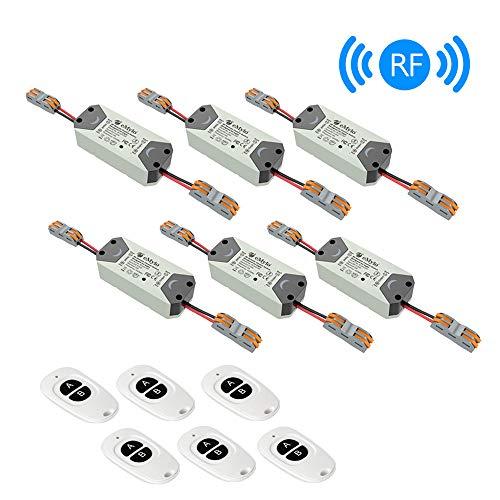 eMylo Smart Wireless Relay Switch DC 12V Modulo di relè RF Telecomando a 1 canale 5V-24V RF Switch Domotica 433Mhz con due trasmettitori 6 pacco - 1