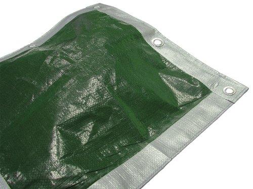 FAITHFULL, Copertura impermeabile da esterno, 5.4 x 3.6 m, Colore: Verde/Argento - 1