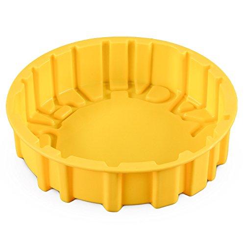 FantasyDay® Stampo in Silicone per Dolci a forma di Buon Compleanno, 1 pezzi Silicone Muffin Sapone Handmade Stampi per Cubetti di Ghiaccio, Biscotti, Tortini, Cioccolato, Dolci - silicone antiaderente - 1