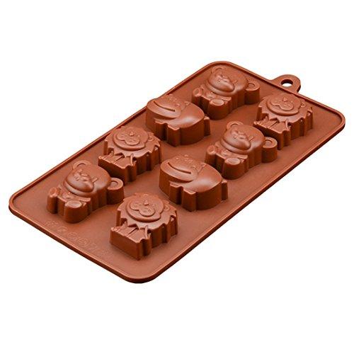 FantasyDay® Stampo in Silicone per Dolci a forma di Carina Animali, 1 pezzi Silicone Muffin Sapone Handmade Stampi per Cubetti di Ghiaccio, Biscotti, Tortini, Cioccolato, Dolci - silicone antiaderente - 1