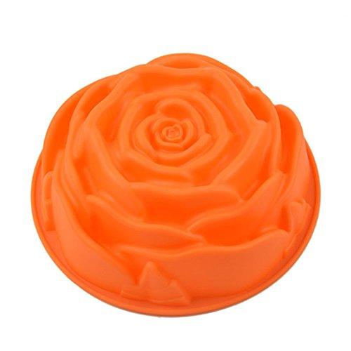 FantasyDay® Stampo in Silicone per Dolci a Forma di Rosa, 1 Pezzi Silicone Muffin Sapone Handmade Stampi per Cubetti di Ghiaccio, Biscotti, Tortini, Cioccolato, Dolci - Silicone Antiaderente - 1
