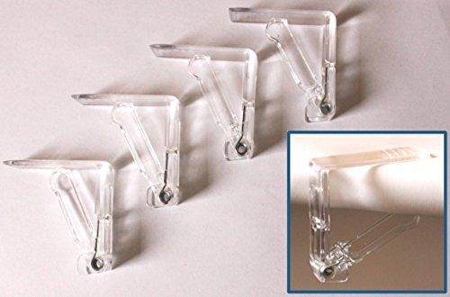 Fermatovaglia in plastica trasparente, 25 pezzi - 1