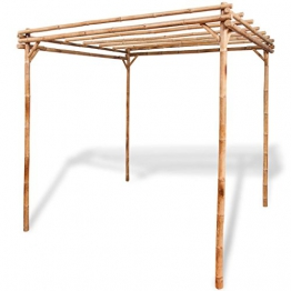 Festnight Pergolato da giardino esterno in Bambù 195x195x195 cm - 1