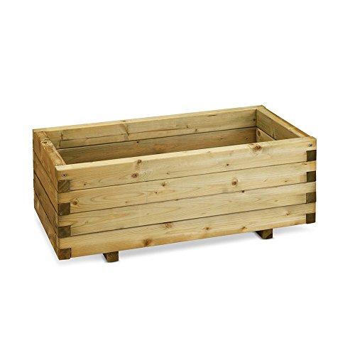 Fioriera in legno nordico 80x40xh35cm arredamento casa piante fiori 15484 - 1