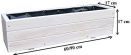 Fioriere in legno per piante ideali per giardino balcone e terrazzo già montati D6 bianco - 1