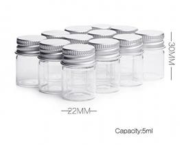 Flaconcini da 5 ml Flaconi di vetro trasparente Bottiglia di caramelle con tappo a vite in alluminio Forti vasetti vuoti Campionario Piccoli contenitori per messaggi Bottiglia di bottiglie Bomboniere - 1