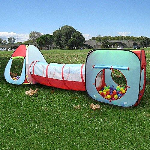 FOONEE 3pcs/set casetta tenda con tunnel, Pop Up per bambini tenda da gioco con palline per bambini, per interni ed esterni - 1