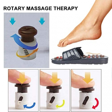FOONEE Massaggio del Piede Tappetino per agopressione riflessologia Relaxer Massage Tools Sollievo dal Dolore Salute Scarpe, 42-43 - 4