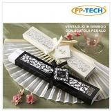 FP-Tech FP-VENT Set 10 Ventagli per Matrimonio, Bianco, Set di 10 Pezzi - 1