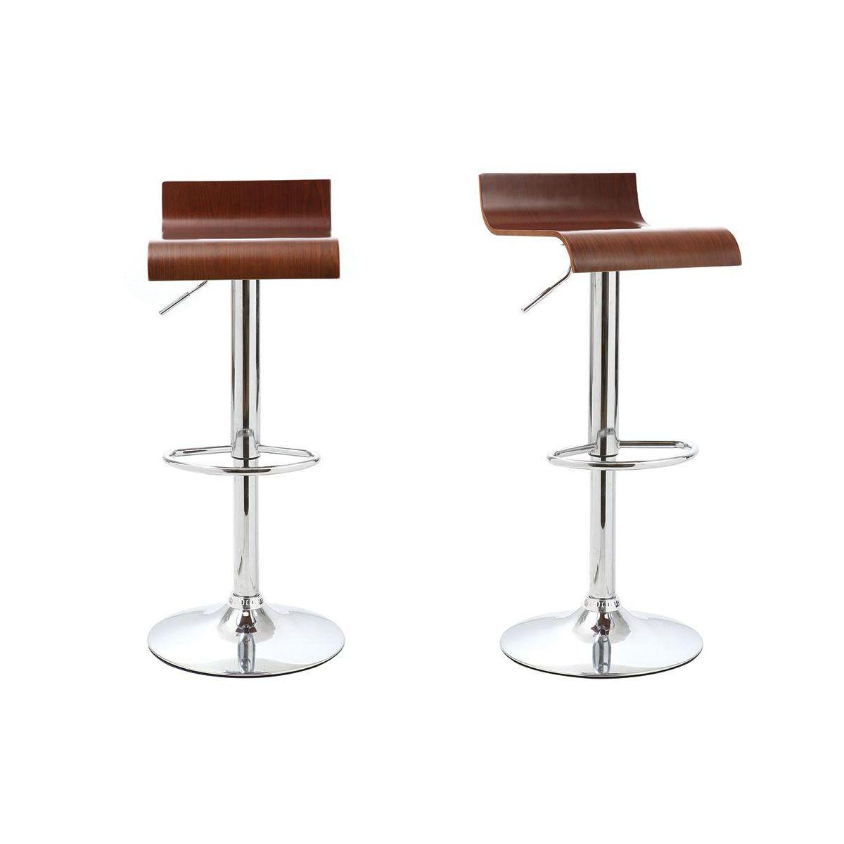 Dove acquistare Gruppo di 2 sgabelli da bar / cucina design legno color noce SURF V2