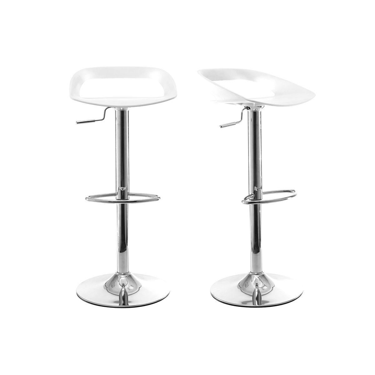 Gruppo di 2 sgabelli da bar design bianchi PHENIX Sgabelli da bar