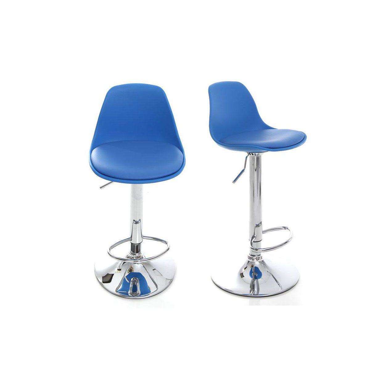 Dove acquistare Gruppo di 2 sgabelli da bar design colore blu STEEVY