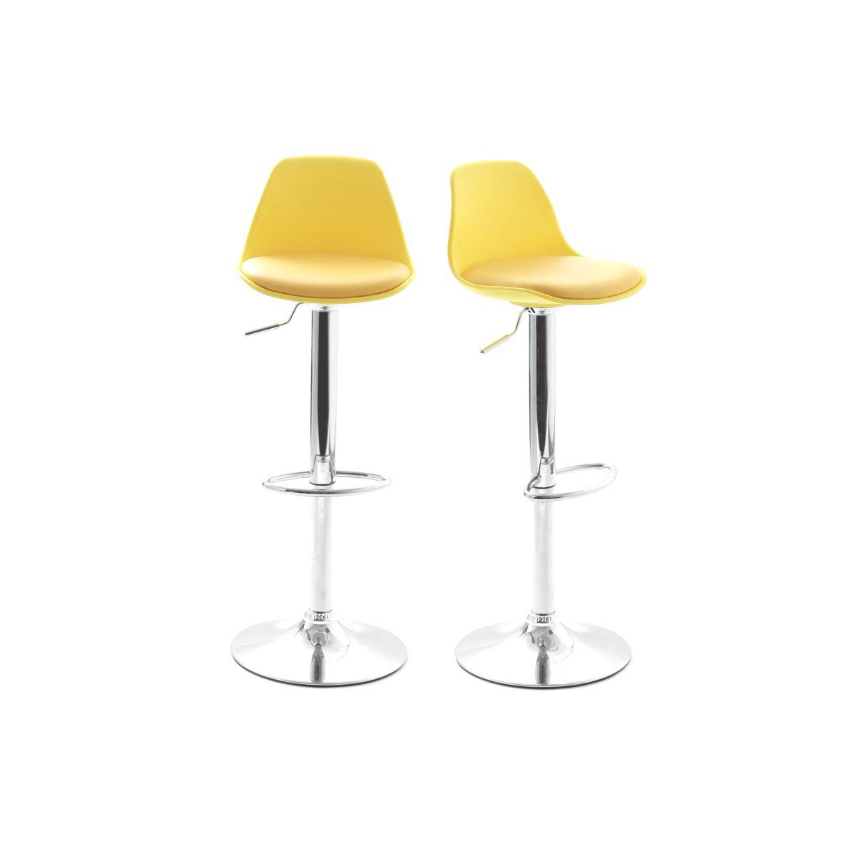 Dove acquistare Gruppo di 2 sgabelli da bar design colore giallo STEEVY