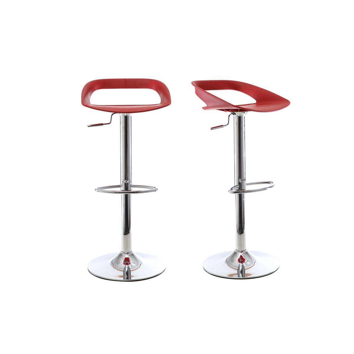 Gruppo di 2 sgabelli da bar design rossi PHENIX Offerte e sconti