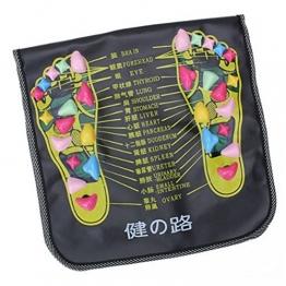 Healifty Massaggio piedi tappetino con pietra massaggiatore plantare Agopuntura Shiatsu riflessologia - 1