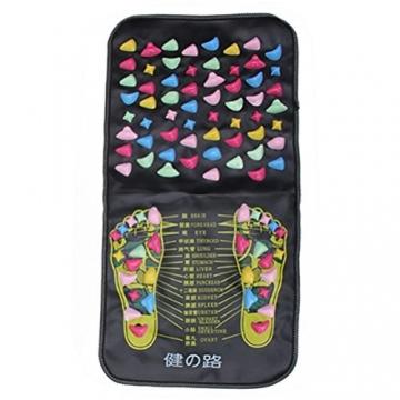 Healifty Massaggio piedi tappetino con pietra massaggiatore plantare Agopuntura Shiatsu riflessologia - 4