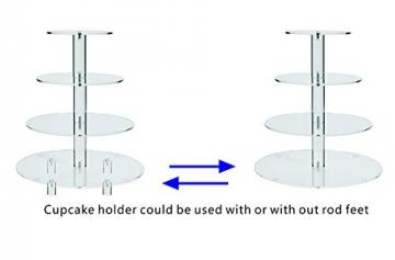 HESIN acrilico torta nuziale/Tower/alzata per cupcake stand/pasticceria piatto da portata/food espositore, Acrilico, round shape - 4