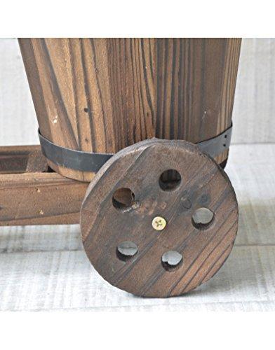 Hogar y Mas Vaso originale in legno naturale Bicicletta, Giardino di Amici a Casa e Più - 1