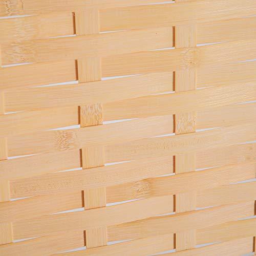 homcom Divisorio Paravento Interno per Camera da Letto Soggiorno Classico con 4 Pannelli Richiudibile in bambù e Legno 180×180 × 2cm - 1