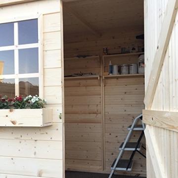 Home Idea Italia Casetta in legno da 20 mm 173 x 160 cm con 1 porta e 1 finestra fissa - 1