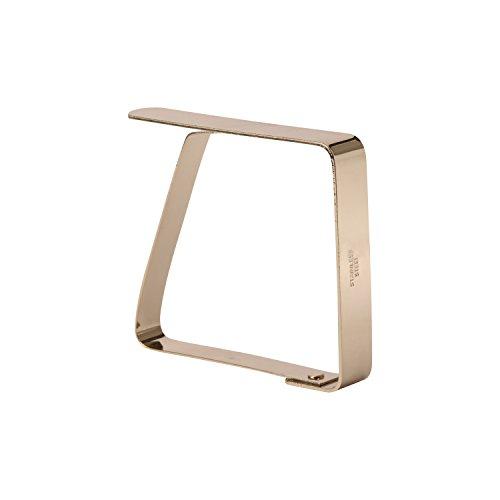 HUAFA 4 Pezzi Fermatovaglia,Rame di alta qualità placcato Ferma tovaglia, Fermatovaglia,Spessore massimo 5 cm (oro) - 1