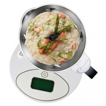 Imetec Cukò Robot da Cucina Multifunzione con Cottura, Multicooker con 3 Programmi Automatici per Risotti, Pasta e Vellutate, 10 Funzioni, 570 W, 4 Porzioni, con Ricettario - 4