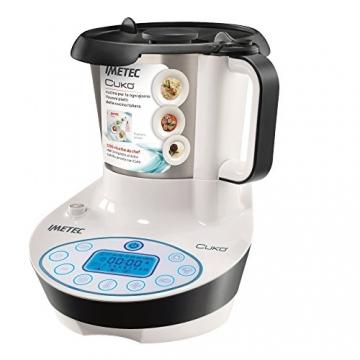 Imetec Cukò Robot da Cucina Multifunzione con Cottura, Multicooker con 3 Programmi Automatici per Risotti, Pasta e Vellutate, 10 Funzioni, 570 W, 4 Porzioni, con Ricettario - 1