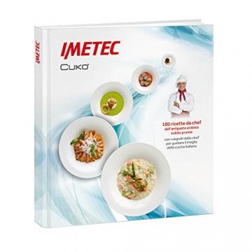 Imetec Cukò Robot da Cucina Multifunzione con Cottura, Multicooker con 3 Programmi Automatici per Risotti, Pasta e Vellutate, 10 Funzioni, 570 W, 4 Porzioni, con Ricettario - 5