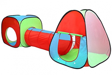 Inside Out Toys Childrens, Kids pop up Play tenda e tunnel set–in rosso/blu/verde - 1