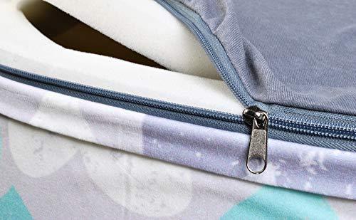 ISO TRADE Piscina di Palline Colorate per Bambini Tondo Bianco Blu Grigio Nero/Grigio Trasparente Rosa 90X40cm / 200 Palline / 2616, Muster:Herz - 1