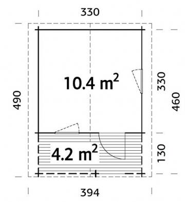 ITALFROM Box Casette di Legno Casetta da Giardino in Legno d'Abete34mm mq10,4 ITALFROM111 [cod.5767] - 3