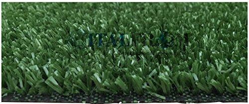 ITALFROM Prato Sintetico 7 mm H 1X25 m - 25mq Finta Erba Tappeto Giardino Calpestabile 5642 - 1