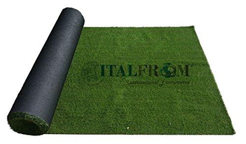 ITALFROM Prato Sintetico 7 mm h 4 x 3 mt - Finta Erba Tappeto Giardino Calpestabile - 1