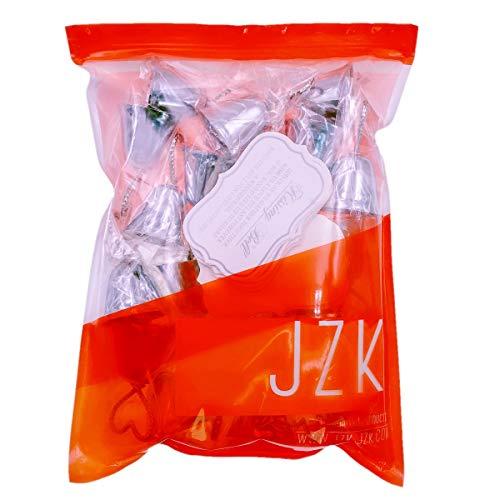 JZK 20 x Segnaposto campanelle cuore tirabaci bomboniera matrimonio battesimo compleanno Albero di Natale campana tirabaci - 1