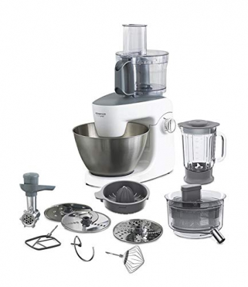 Kenwood KHH326WH Impastatrice Planetaria MultiOne, Acciao, 4.3 l, Bianco - 1