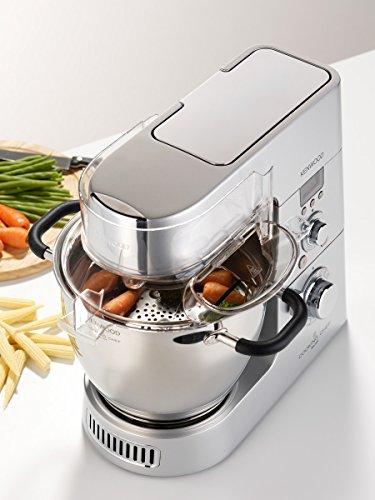 Kenwood KM096 Cooking Chef Impastatrice Planetaria, con Frullatore e Food Processor, 1500 W, Alluminio Pressofuso, Grigio - 1