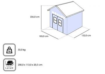 Keter 226008 Casetta, Marrone, 185x152x226 cm - 3