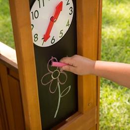 KidKraft 405 Casetta Gioco da Giardino e Esterno Garden View in Legno per Bambini con lavagne, fioriera e Tenda Stile caffetteria, Colore Marrone - 1