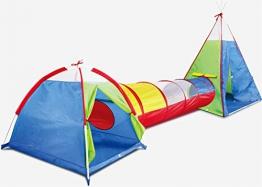 Kidodo 3in 1Pop up Play Tenda con Tunnel, Palline per Bambini, Ragazzi, Ragazze Neonati e Bambini, Indoor/Outdoor Playhouse - 1