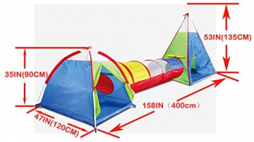 Kidodo 3in 1Pop up Play Tenda con Tunnel, Palline per Bambini, Ragazzi, Ragazze Neonati e Bambini, Indoor/Outdoor Playhouse - 2