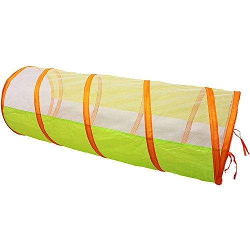 KIDUKU® Tenda Igloo per bambini con tunnel + 200 palline + borsa per interni ed esterni - Tenda da gioco con palline per bambino - 1