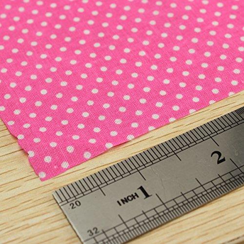 KING DO WAY 7 Pz Tessuti Stampato Cotone per Cucire Stoffa a Metro Stoffa per patchwork 50cmX50cm Floreale-Rosa - 1