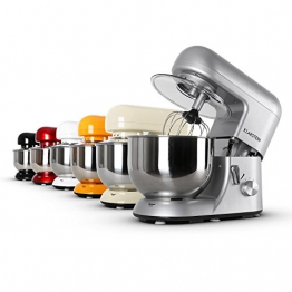 Klarsteinstein Bella Argentea • robot da cucina • mixer • impastatrice • 1200 W • 6 PS • 5,2 L • sistema planetario • 6 livelli • terrina in acciaio inox • sistema bloccaggio rapido • argento - 1