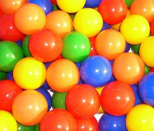 Koenig-Tom - 200 palline in plastica per bambini, con certificazione di non tossicità TÜV Rheinland Nov. 2012 - 1